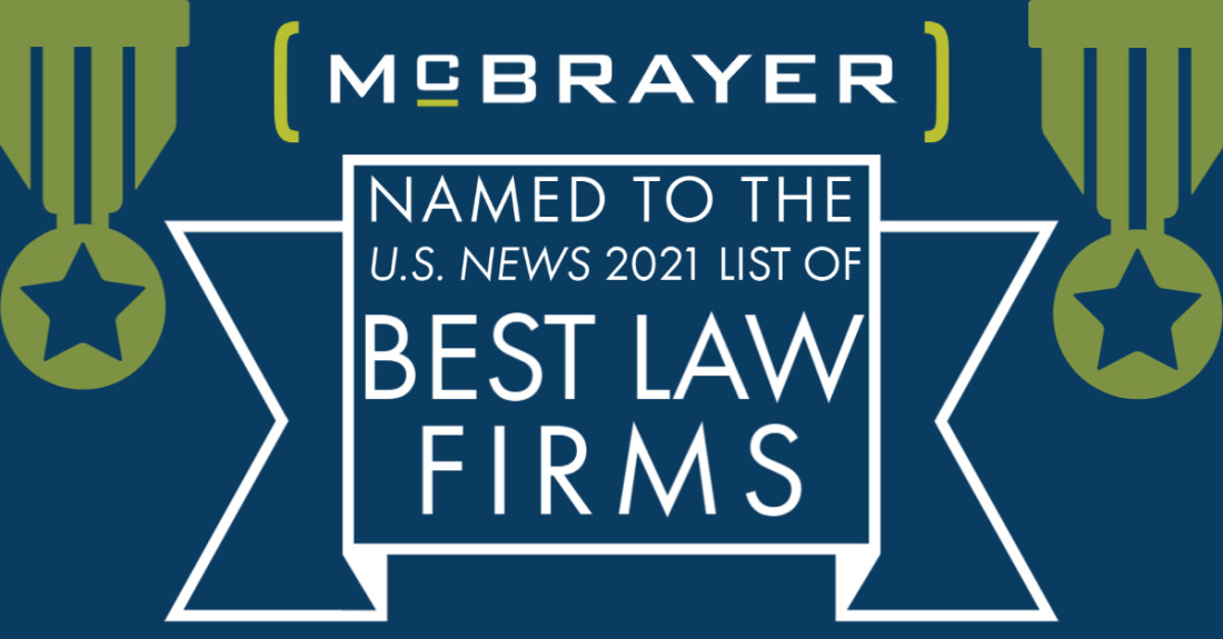 McBrayer Named to the U.S. News 2021 List of Best Law Firms Graphic