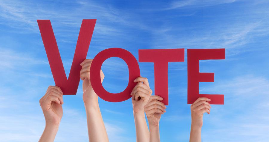Hands Holding Vote