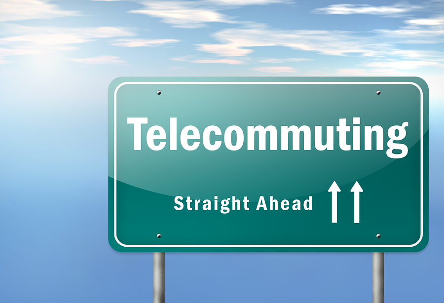 Highway Signpost Telecommuting
