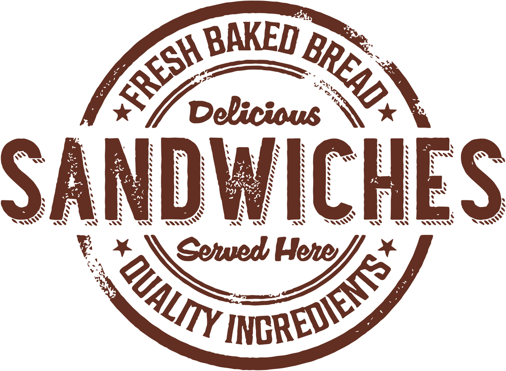Vintage Deli Sandwiches Rubber Stamp Sign