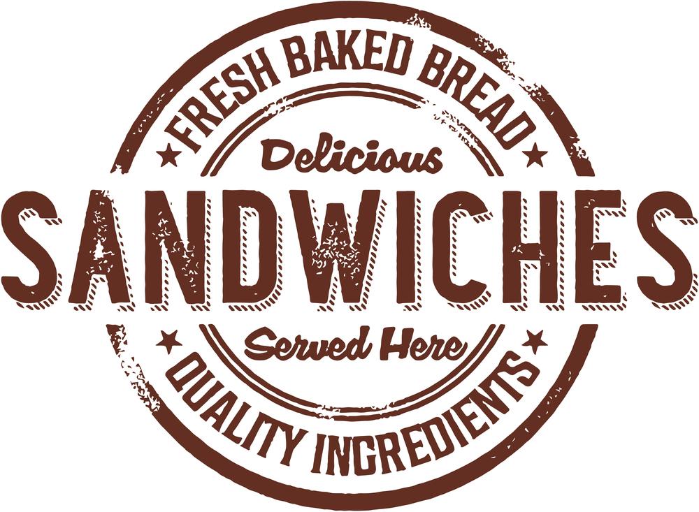 Vintage Deli Sandwiches Rubber Stamp Sign