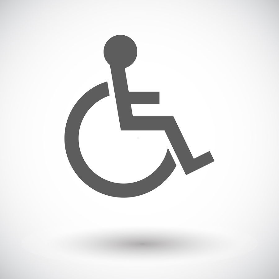Disabled. Single flat icon on white background. Vector illustration.