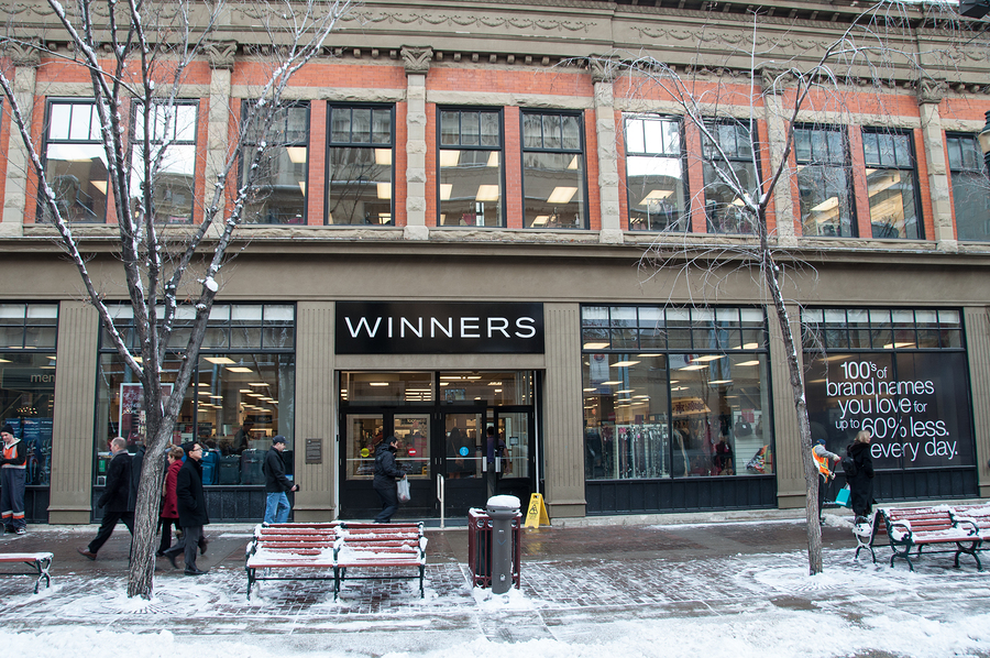 Winners, shopping in Calgary