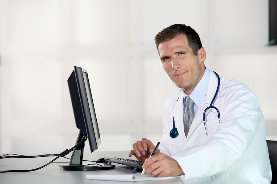 Doctor at desk
