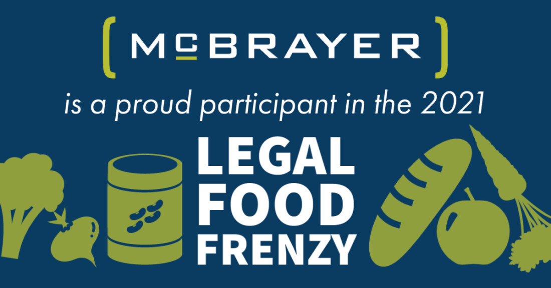 McBrayer is a proud participant in the 2021 Legal Food Frenzy