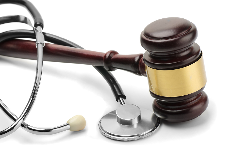 Gavel and stethoscope