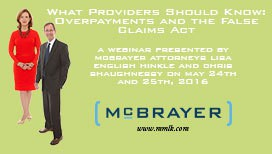 Photo of Webinar - What Health Providers Should Know: Overpayments and the False Claims Act